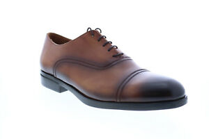 Bruno Magli Butler Mens Brown Leather Lace Up Oxfords & Lace Ups Cap Toe Shoes