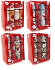 "Box 12 x Large 12"" Christmas Crackers Traditional Family Dinner Gift Joke Hat"
