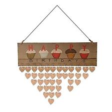 Wooden Birthday Special Day Reminder Board Calendar Organiser Home Wall Sign