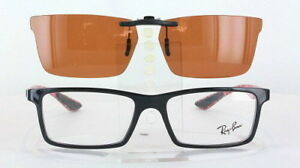 Custom Fit Polarized CLIP-ON Sunglasses For Ray-Ban RB8901-53X17 Rayban 8901