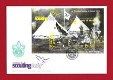 Isle of Man Centenary of Scouting Minature Sheet FDC - Issue Date 22/02/2007