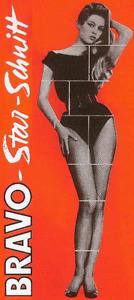 Starschnitt Brigitte Bardot 1959 (11 Kopien kompl.) 1.Bravo-Starschnitt