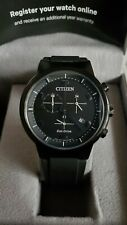 Citizen Men's Eco-Drive Paradex Sapphire AT2405-01E Watch MSRP $350 Excellent!!
