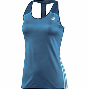 adidas Adizero Womens Running Vest Tank Top - Blue
