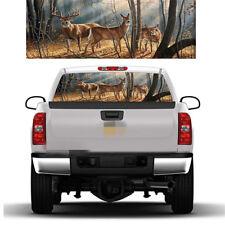 Autumn Tractors Barn Deer Version 2 Rear Window Graphic Decal Truck SUV