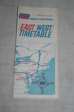 Vintage Penn Central Railroad System East West Timetable February 5, 1969