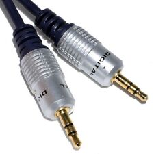 15m blindé BCE Jack 3.5 mm câble aux audio plug plomb pour casque / MP3 / iPod / VOITURE