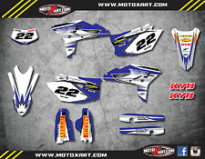 Yamaha WRF 450 - 2012 - 2015 stickers Full  Custom Graphic  Kit - SHOCKWAVE
