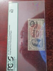 15 CENTS FRACTIONAL CURRENCY FR-1267 CERTIFIED BY PCGS NEW 62