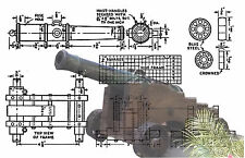 PLANS to build 1/12 Scale 1812 smooth bore cannon Full Size Printed Plans