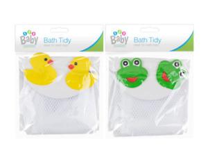 Baby Bath Toy Tidy Bathroom Organiser Mesh Net Childs Storage Holder Frog / Duck
