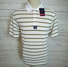 New Tehama Striped  Golf Club Polo Shirt Men's Hang'Em DryMoisture Size M
