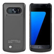 Arc® Samsung Galaxy S7 Edge External Battery Case Charger Bank 5200mAh Black