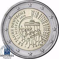 Deutschland 2 Euro 25 Jahre Deutsche Einheit 2015 Prägefrisch Mzz J
