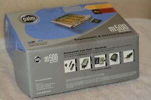 Palm m500 Handheld W/accessories. Not working. Good for parts.