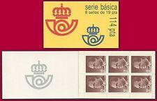 ESPAGNE Carnet N°2475** Série courrante  Juan Carlos, 1986 Spain booklet MNH