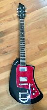 PureSalem Meazzi Zodiac Reissue Guitar Prototype In Black and Red New in Box