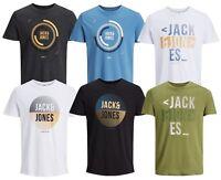 Jack & Jones Core T-shirt Mens Crew Neck New Logo Booster Tee Print Cotton Top