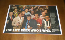 Miller Lite Beer 11x17 Color Ad Print - Who'S Who - Butkus - Dangerfield - Ford