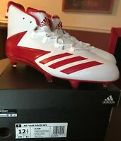 Adidas AS Freak Mid D NFL Football Cleat- Red/White AC7598- Men's Size 12.5