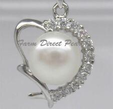 Liebe & Herzen Perlen-Echtschmuck-Halsketten & -Anhänger für Damen