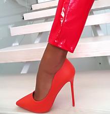 Womens 13cm Evening Party Clubwear Fashion Metal Stilettos High Heel Shoes