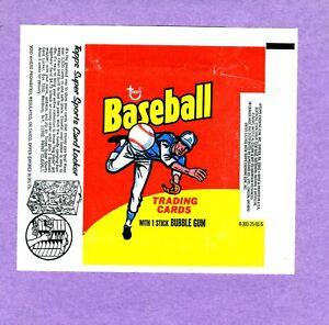 1975 Topps Baseball Wax Wrapper