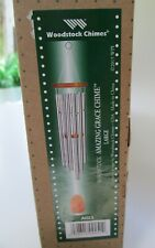 Large Woodstock AMAZING GRACE Wind Chime Musically Tuned Silver Tubes AGLS