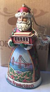 Jim Shore ~ SAN FRANCISCO SANTA Hanging Ornament ~ 4026382 ~ NEW IN BOX
