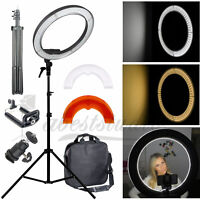 Reverse Stand Photo Video Selfie Makeup Beauty Xmas Studio LED 24W Ring Light