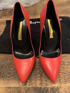 Rupert Sanderson Designer Red Heels - Size 39 - Worn Once - RRP £675.00