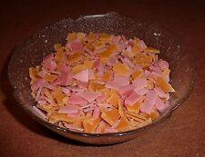 300g Wachs Cracker Rosa & Dunkel Gelb Crunchwachs Wachsreste Kerzenreste Kerzen