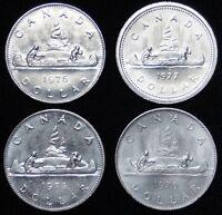 1976 - 79 Dollar $1.00 - Lot of 4 pcs - NCC