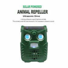 Solar LED Pest Repeller Ultrasonic Cat Dog Animal Defense Garden Infrared Sensor