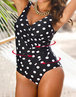 One Piece Swimwear Plus Size 10 12 14 16 18 20 Dots Bathers Slimming Swimsuit