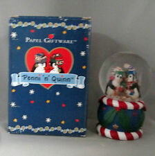 Penni N Quinn Penguin Musical Waterdome We Wish You A Merry Christmas Boxed