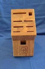Wusthof 8 Slot Knife Block Solid Hardwood