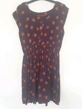 "Womens ""NEXT"" Purple Polka Dot Stretch Casual Tea Dress - Size 12"