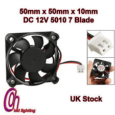 DC 12V x 50 x 50 10mmBrushless DC 12V 5010 7 lame ventilateur UK STOCK