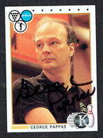 George Pappas #28 signed autograph auto 1990 Kingpins PBA Bowling Trading Card