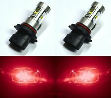 LED 30W 9006 HB4 Red Two Bulbs Head Light Low Beam Show Use Plug Play Lamp