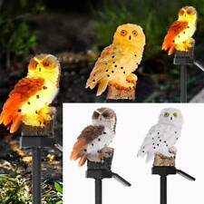 More details for owl animal solar led garden lights lawn ornament waterproof outdoor lamp décor
