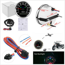 85mm Car Motorcycle GPS Speedometer Odometer 0-200km/h MPH Stainless Steel Bezel