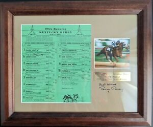 1973 Kentucky Derby Program Display Signed by Ron Turcotte & Penny Chenery