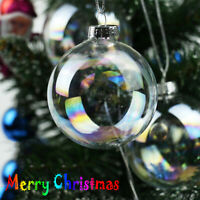 6cm Clear Iridescent Glass Ball Christmas Ornament Wedding Baubles Home Decor