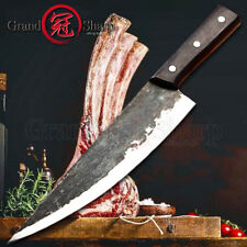 Handmade Clad Steel Kitchen Knives Traditional Chinese Knife Chef Slicing Knife