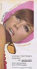 PUBLICITE ADVERTISING 015 1965 ESSEL lunettes de soleil