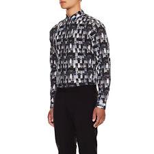 NWT Theory XL 'Zack' Geometric Long Sleeve Designer Shirt Abstract Painted Plaid