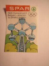Spar - Olympia - Belgien 1928 / Streichholzetikett