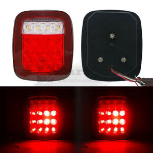 Qty 2 Universal 16LED Stud Mount Stop Car Turn Signal Light Rear Brake Lamps 12V